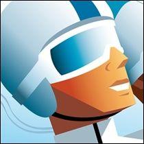 4 Blue Riders - Ski art de Charlie Adam - Love his work!