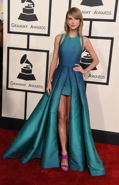 Taylor Swift arrives at the 57th Annual GRAMMY Awards on Feb. 8 in Los Angeles