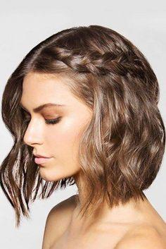 Frisuren für kurze Haare (Wedding Hair Braid)