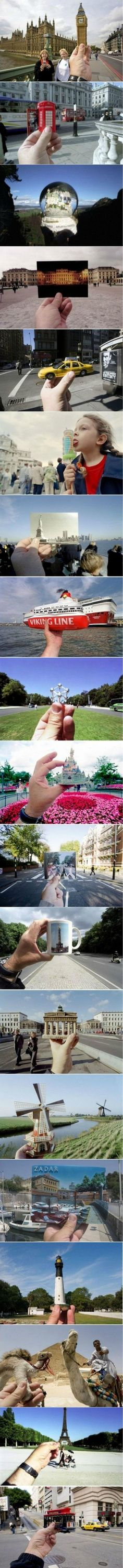 Souvenirs and forced perspective photography
