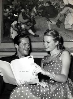 Grace Kelly and Robert Cummings - I LOVE her dress!!! Can I have one?