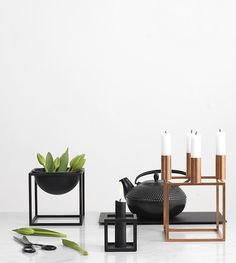 Bol KubusPetit de By Lassen Scandinavian Style Home, My Settings, Wishbone Chair, Danish Design, Garden Styles, Lamp Light, Candle Holders, Colours, Table Decorations