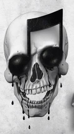 Music/skull tattoo