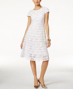Alfani Lace Fit & Flare Dress, Only at Macy's   macys.com