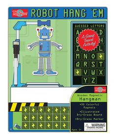 Another great find on #zulily! Robot Hangman Magnetic Game by T.S. Shure #zulilyfinds