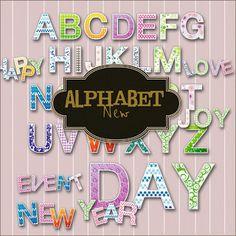 Friendly Scrap: free alphabet 9