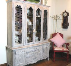 china cabinet painted with Chalk Paint