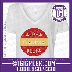 TGI Greek - Alpha Gamma Delta - Sorority PR - Greek T-shirts - Bid Day - Sorority Recruitment  #tgigreek #alphagammadelta #bidday