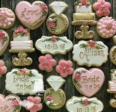 Bachelorette shower cookies #pinkehiteandgold #bridetobe #bridalshower #customcookies #sperryoksugarart Custom Cookies, Sugar Art, Cake Cookies, Bridal Shower, Sweet Treats, Cakes, Traditional, Bride, Desserts