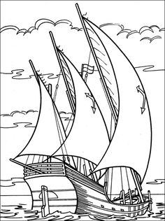 sailing ship coloring book pages - Google Search