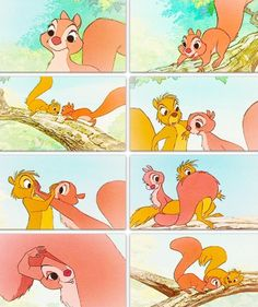 Your favorite Disney animal?  This female squirrel from sword and the stone. She is adorable!
