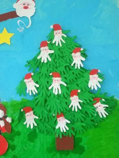 Pin by Natalia Lungu on Новый год Preschool Christmas, Christmas Crafts For Kids, Christmas Activities, Xmas Crafts, Crafts To Do, Diy Crafts For Kids, Art For Kids, Christmas Decorations, Christmas Art Projects