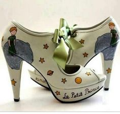 Le Petit Prince Shoes (Sanemiko by Sanem Sevgen) Crazy Shoes, Me Too Shoes, Prince Shoes, Mode Shoes, Shoe Boots, Shoe Bag, The Little Prince, Kinds Of Shoes, Ciabatta