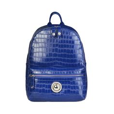 Womens Backpack Authentic Versace Jeans Ladies Rucksack Leather Blue New Versace Jeans, Fashion Backpack, Dust Bag, Backpacks, Lady, Leather, Blue, Handle, Pockets