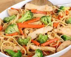 Nouilles sautées au poulet : http://www.fourchette-et-bikini.fr/recettes/recettes-minceur/nouilles-sautees-au-poulet.html