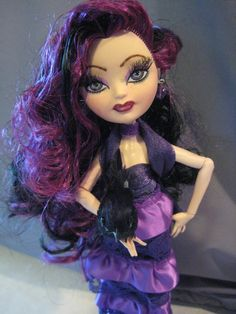Ooak Ever After High Raven Doll Monster High Artist by mybarbieart, $80.00