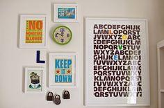 letras alfabeto quarto bebe