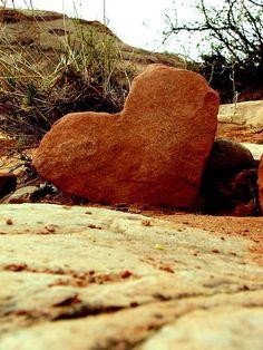Utah. heart shaped rock