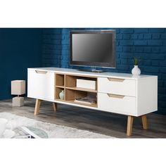 TV meubel Nordic 150cm wit eiken - 36805