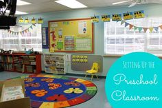 Setting Up the Preschool Classroom - GREAT ideas!! What a cute room!!!