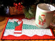 Quilted Mug Rugs | Flickr - Photo Sharing!