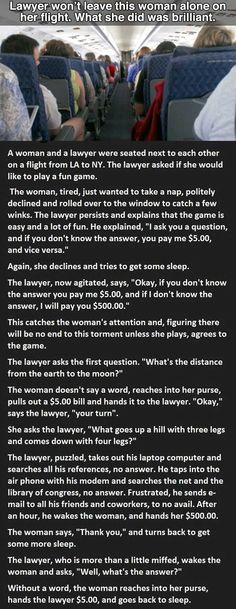 Her response to the lawyer was perfect...