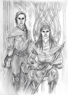 Silmarillion - Feanor and Finwe by Ingvild-S.deviantart.com on @DeviantArt