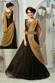Black and gold color  salwar suit