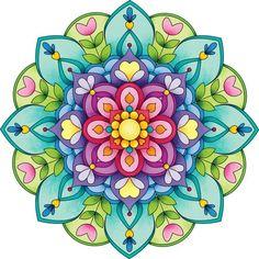 another lovely color screen for a mandala Mandala Art, Mandala Painting, Mandala Drawing, Wal Art, Motif Floral, Mandala Coloring, Fractal Art, Fractals, Clipart