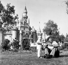 Walt hanging out in front of Sleeping Beauty Castle.