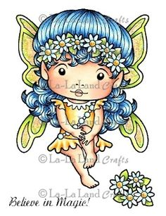 Daisy Faerie Marci (with Accessories) Rubber Stamp