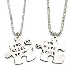 MISSING PIECE PUZZLE NECKLACE | Unique, Symbolic, Matching Silver Puzzle Necklaces for You and the One Who Completes You, Handmade by Kathy Bransfield | UncommonGoods on Wanelo