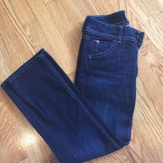 Hudson jeans Hudson straight-leg jeans. Size 25. They've been hemmed and now measure about 34.5 inches in length. Lightly worn. Hudson Jeans Jeans Straight Leg