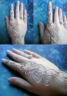 Wire Wrapped Henna Bracelet by RachaelsWireGarden She makes beautiful trees and other wirework. http://rachaelswiregarden.deviantart.com