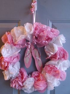 Holly Muffin: Holly's Ballet Themed 3rd Birthday- Part Two (DIY Ballerina Wreath)