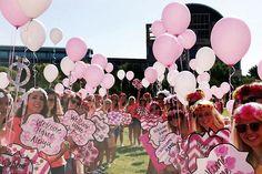 Bid Day Balloon Walk! #PhiMu #BidDay