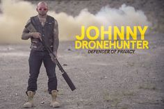 A company is marketing gun silencers by blowing drones out of the sky