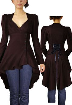 Steampunk Dark Brown  Top ~ Yes, I would be fabulous in this :)