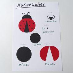 JanasBastelecke: Kreativer Montag 07 - Kreativ mit Stanzen - Marienkäfer
