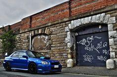 2004 Subaru Impreza STI blue on black Check out for the best & Parts Subaru Impreza Sti, Wrx Sti, Skyline Gtr, Nissan Skyline, Subaru Cars, Tuner Cars, Japanese Cars, Rally Car, Future Car