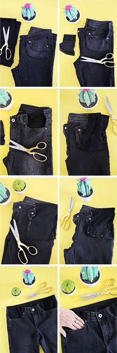 Adaptando a calça jeans para a gravidez