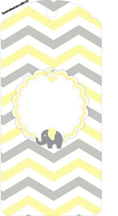 Baby Stickers, Printable Stickers, Printable Banner, Elephant Party, Baby Elephant, Baby Shawer, Yellow Chevron, Baby Cards, Love Rain