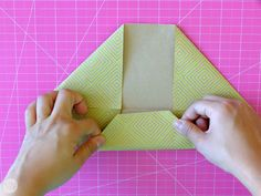 We didn't just hand these letters to each other willy nilly, we found creative ways to fold them up. Learn how to fold a letter into a pull tab note! Origami Letter Fold, Letter Folding, I Tried, Crafts For Kids, Envelope, Boxes, Lettering, Creative, Diy