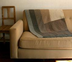 Half Log Cabin Ombre Blanket