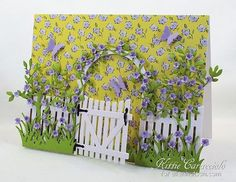 Arbor Gate and Flower Garden by kittie747 - Cards and Paper Crafts at Splitcoaststampers
