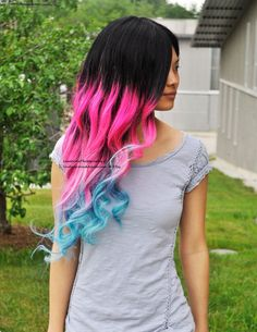 Human Hair Cotton Candy Wig by UndergroundAquarium on Etsy, $564.99