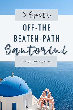Get away from the crowds. Rent a car and hit these spots off the beaten path in Santorini Greece. See what else this incredible island has to offer. #thingstodoingreece #santorinibeach #santorinifood #santorinitravel #greecetravel #greekislands Greece Vacation, Greece Travel, Hawaii Travel, Italy Travel, Santorini Travel, Santorini Greece, Places To Travel, Travel Destinations, Best Vacation Spots