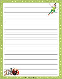 Peter Pan Green printables