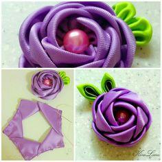 Flor cinta raso