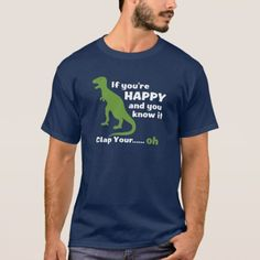T-Rex clap your hands T-Shirt - click/tap to personalize and buy